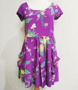 🦇Lux Purple Babydoll Dress 90s style